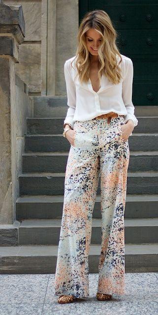 pantalons chics tendance été 2019