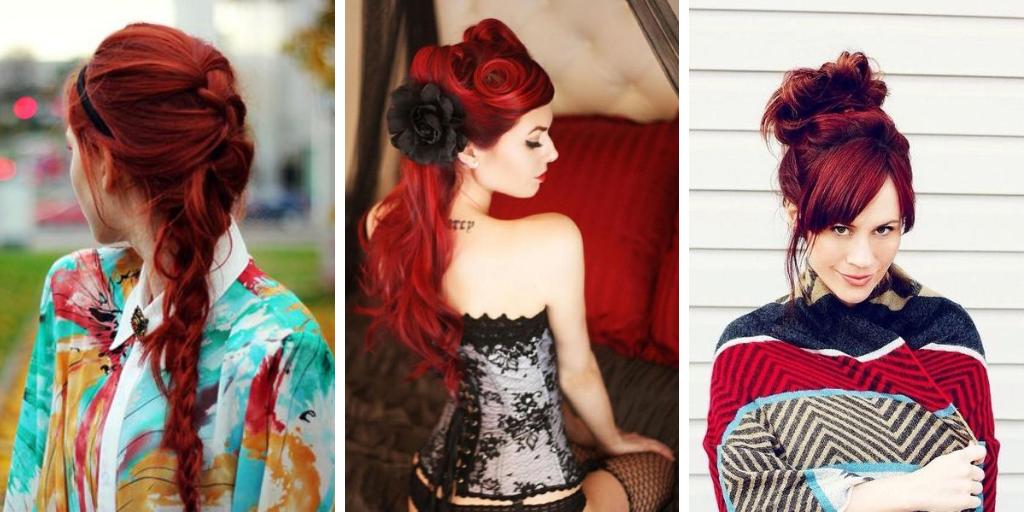 coiffures pour les cheveux roux