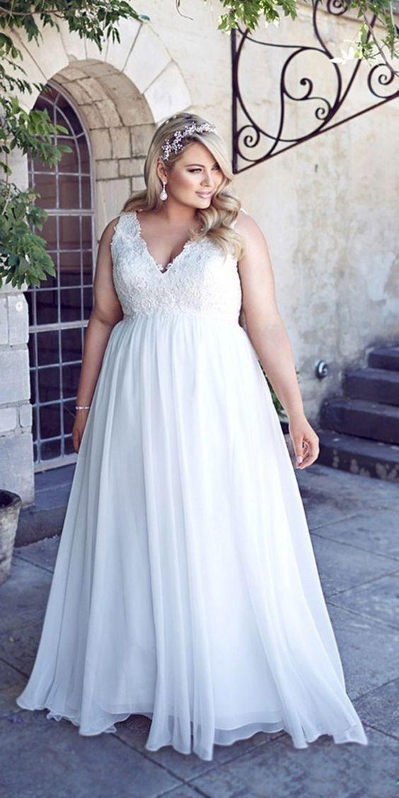 20 Modèles De Robes De Mariage Pour Les Femmes Rondes