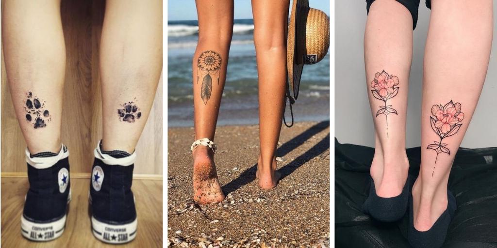 22 Meilleurs Idées De Tatouages Mollet Pour Les Femmes