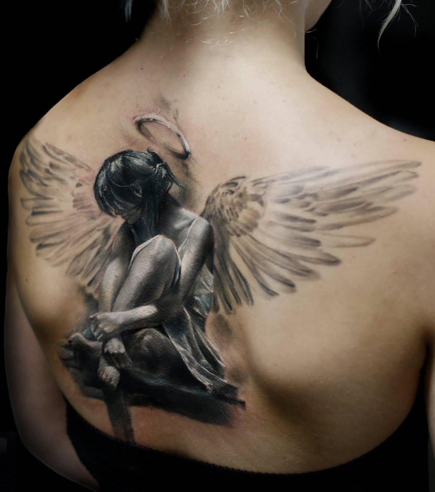 Quelle est la signification du tatouage d'ange