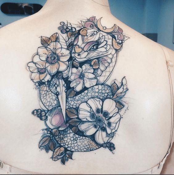 Signification du tatouage de serpent