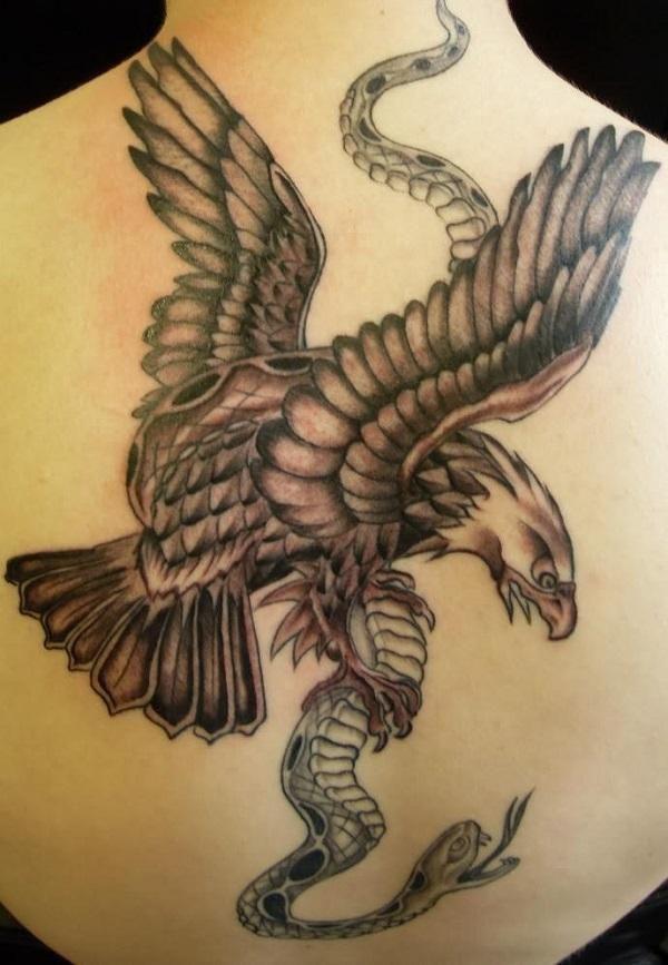 tatouage serpent et aigle