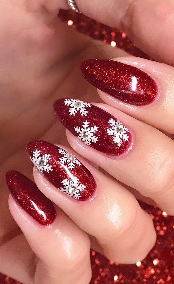 24 Idées De Manucures Pour La Fête De Noël