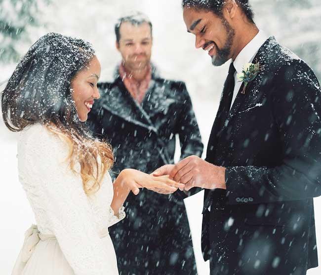 idées pour un mariage en hiver