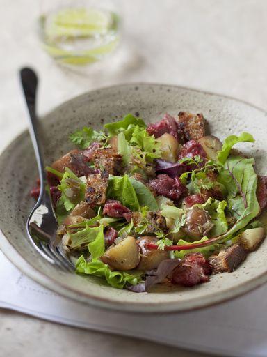 Salade chaude aux gésiers