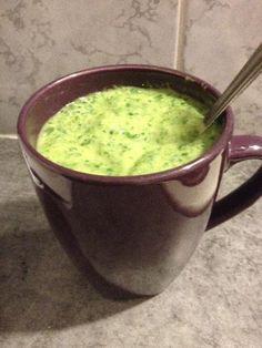 Soupe courgette épinards au chèvre