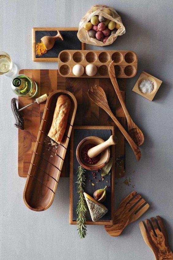 Accessoires de cuisine en bois