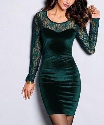 robe en velour pour femme