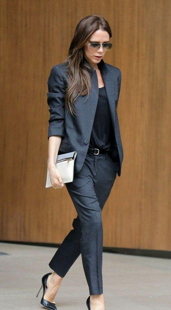 tailleur pantalon femme gris clair