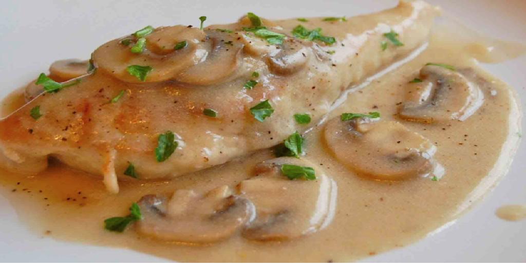 recette de Poulet à la moutarde et aux champignons