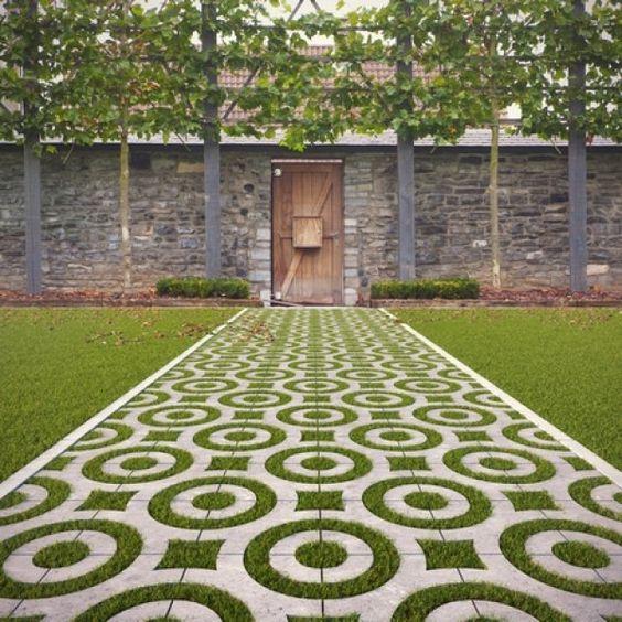 décoration de sol d'extérieur originale