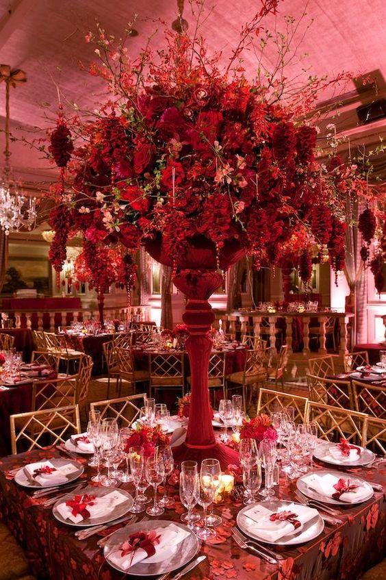décoration rouge pour votre cérémonie de mariage