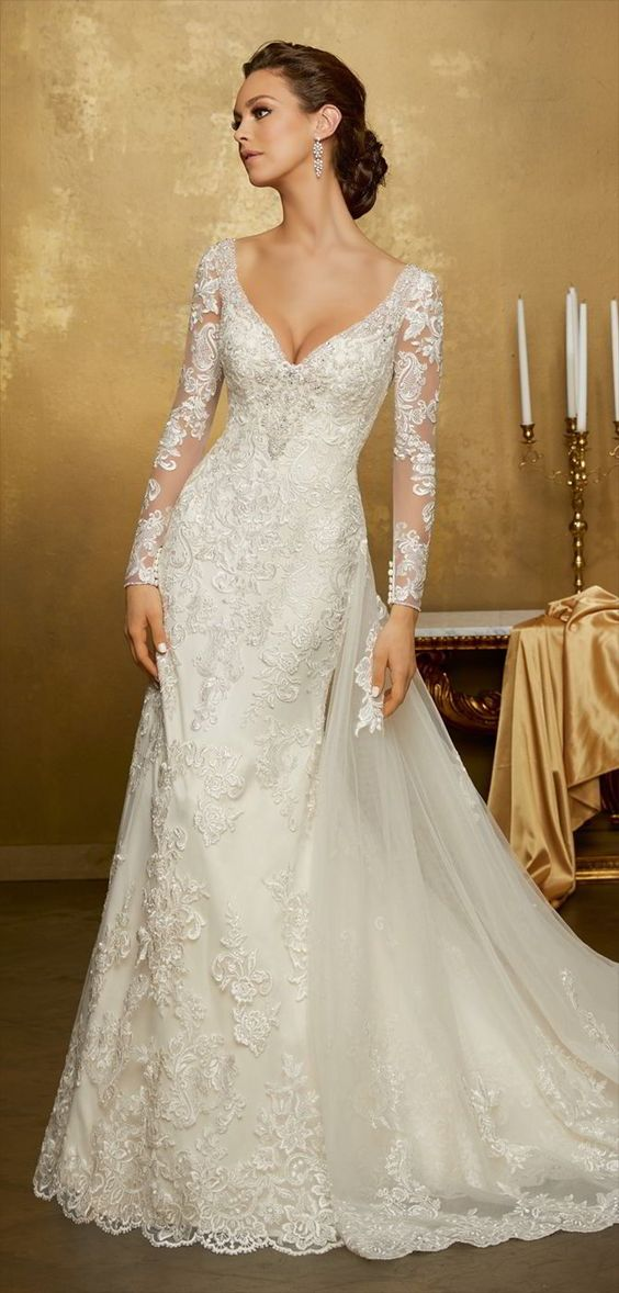 robes en dentelle pour les mariées 2018