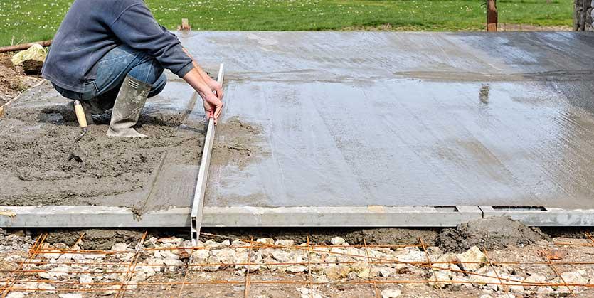 Terrasse en béton traditionnel