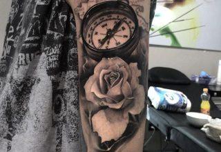 Que signifie un tatouage de boussole