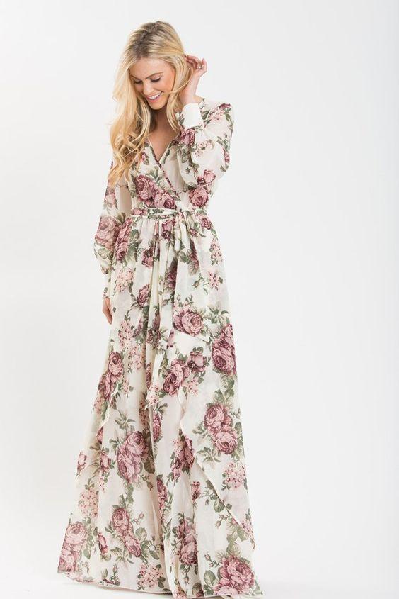 robes longues fleuries