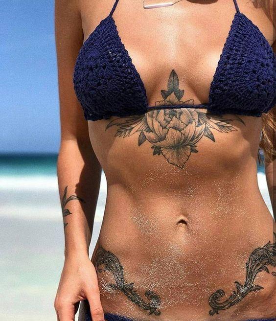 23 Tatouages Magnifiques Sur Le Ventre Pour Les Femmes
