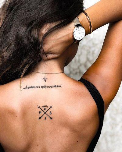 tatouage boussole