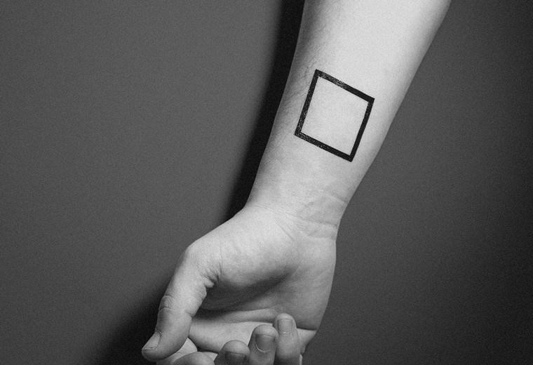 Signification du tatouage géométrique carré