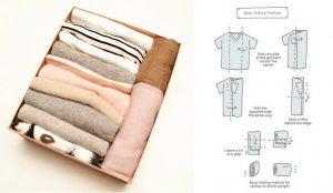 Méthode facile pour plier les vêtements