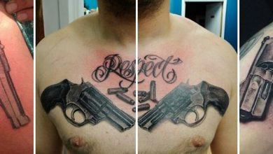 Tatouage pistolet / arme à feu signification