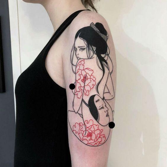 20 Idées de tatouages japonais pour les femmes