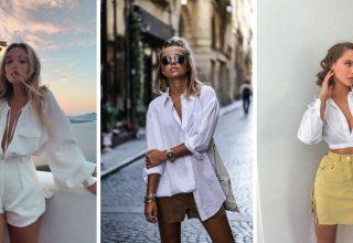 20 idées pour porter le t-shirt blanc autrement