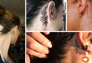 21 Idées de tatouages d'oreilles pour les femmes