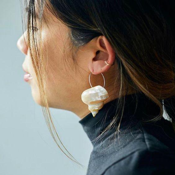 20 Boucles d'oreilles en forme de coquillage
