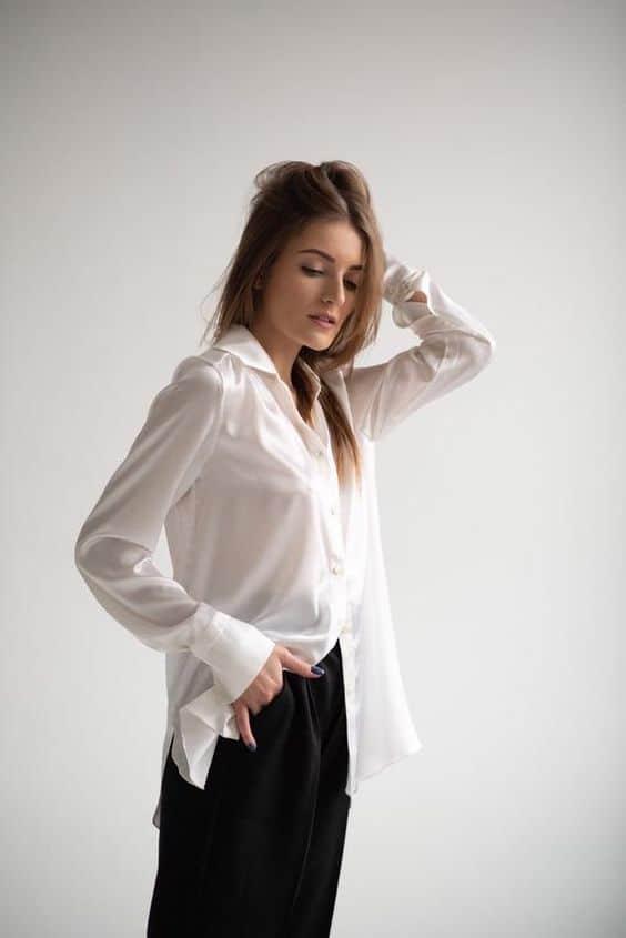 25 Chemise en soie pour les femme