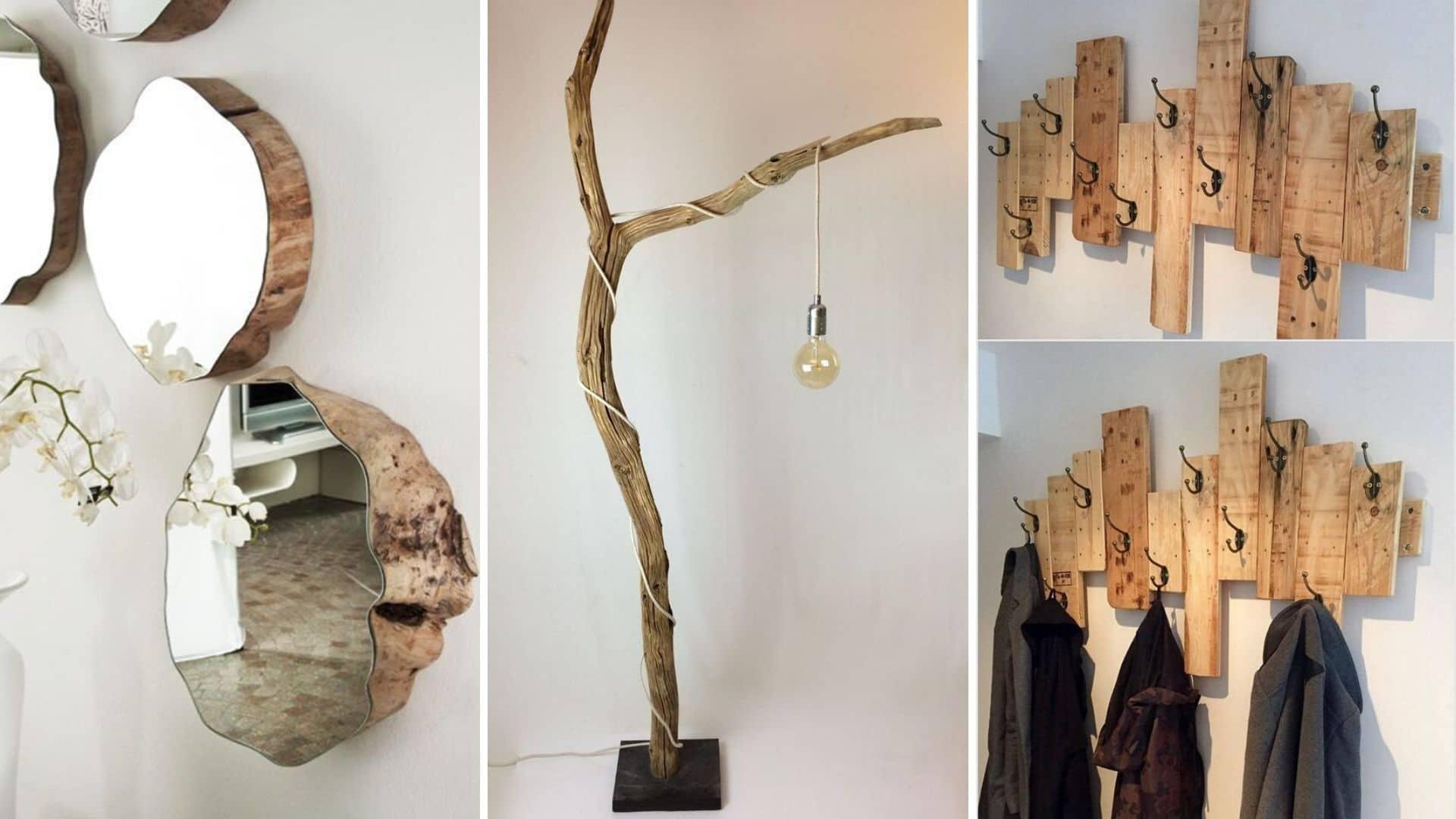 21 idées pour ajouter du bois brut à sa déco