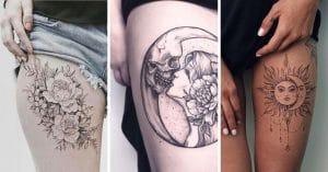 20 Idées de tatouage pour la cuisse