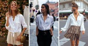 20 Looks pour rendre la chemise blanche plus cool
