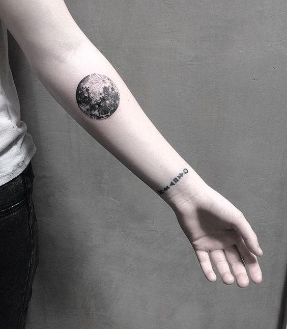 20 Photos de tatouage lune pour les femmes