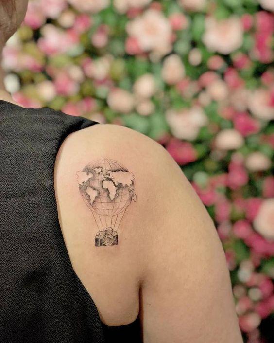 20 Idées tatouage pour les amoureuses de voyages