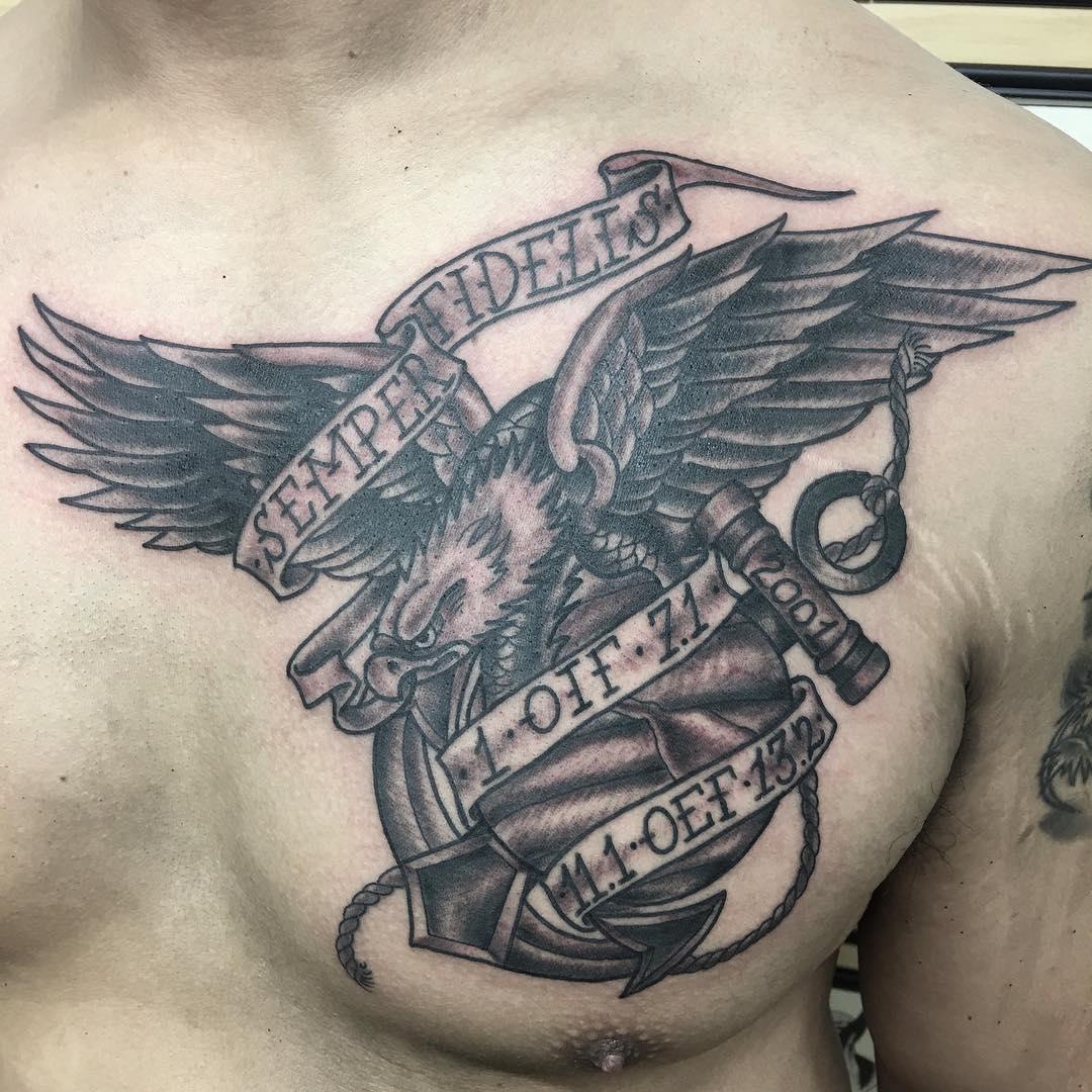 USMC tattoos