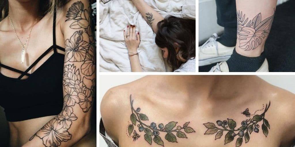 20 Tatouages de plantes et végétaux pour décorer sa peau