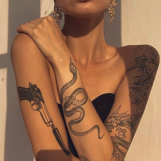 tatouage de serpent