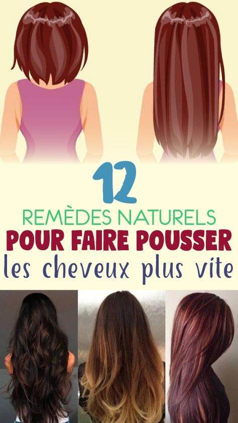 12 Remèdes naturels pour faire pousser les cheveux plus vite