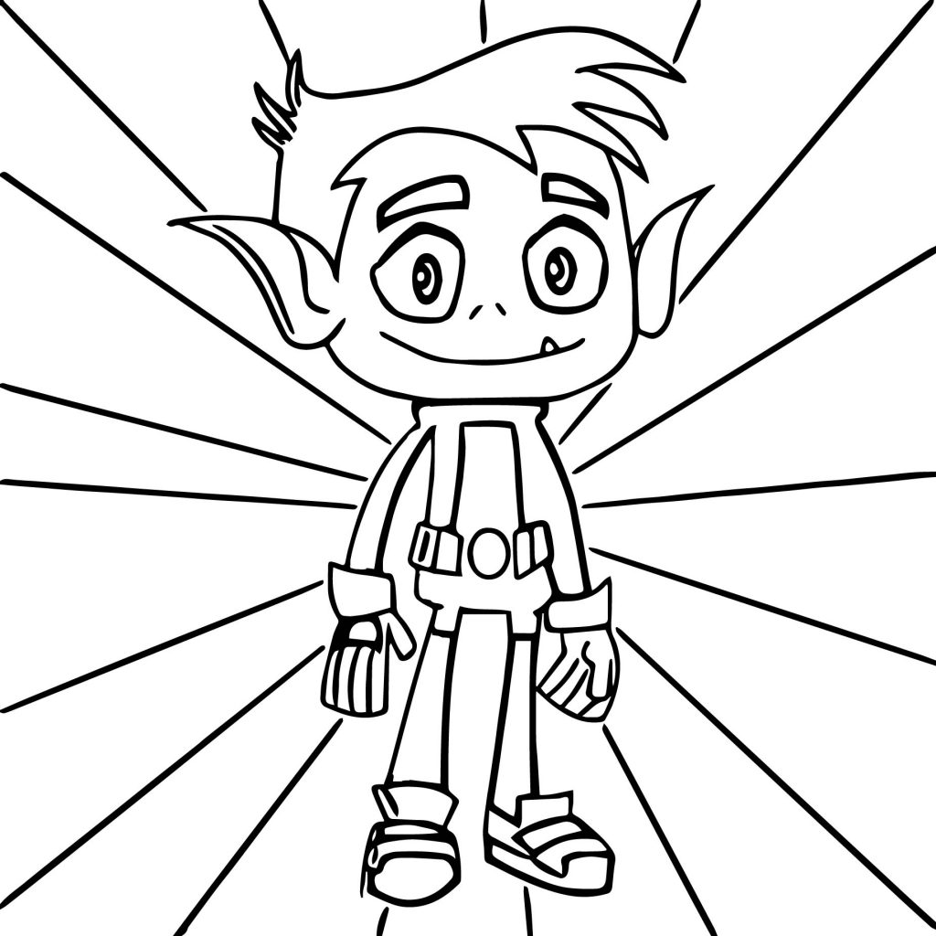 Coloriages Teen Titans - Beast Boy