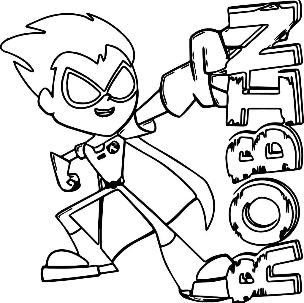 Coloriage Teen Titans - Robin