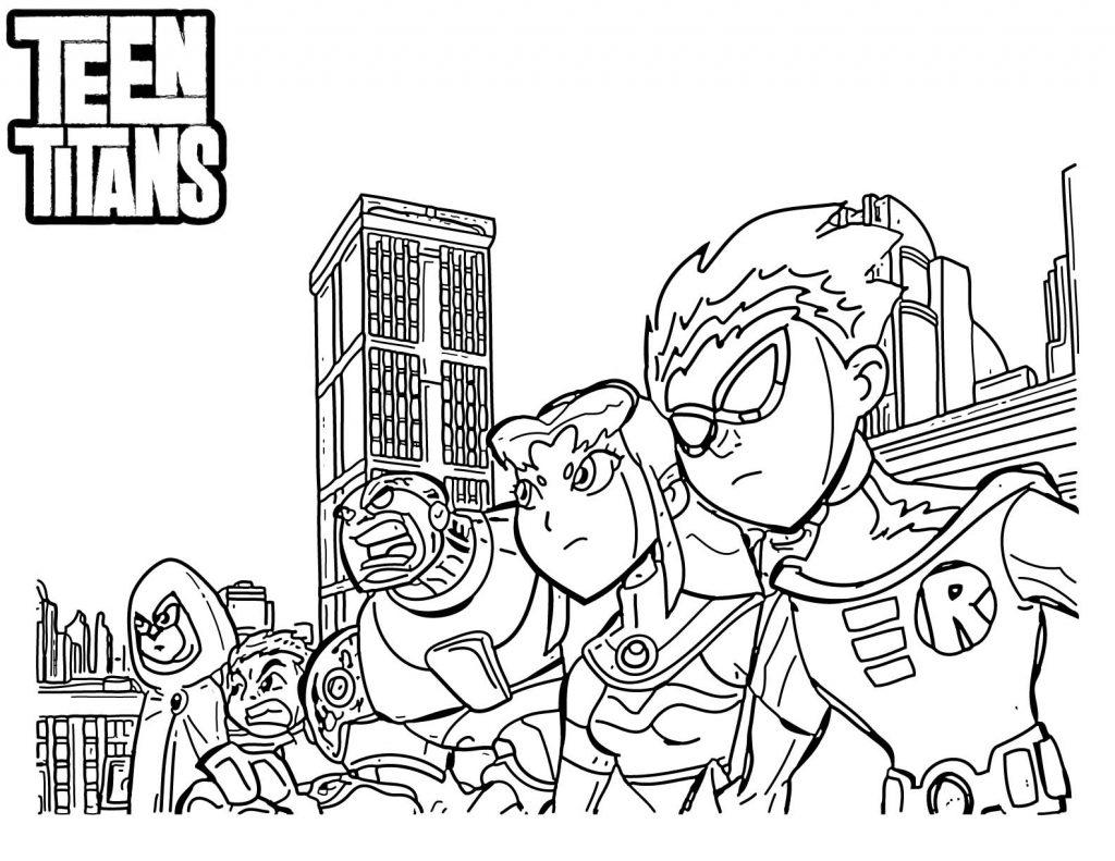 Coloriage Teen Titans