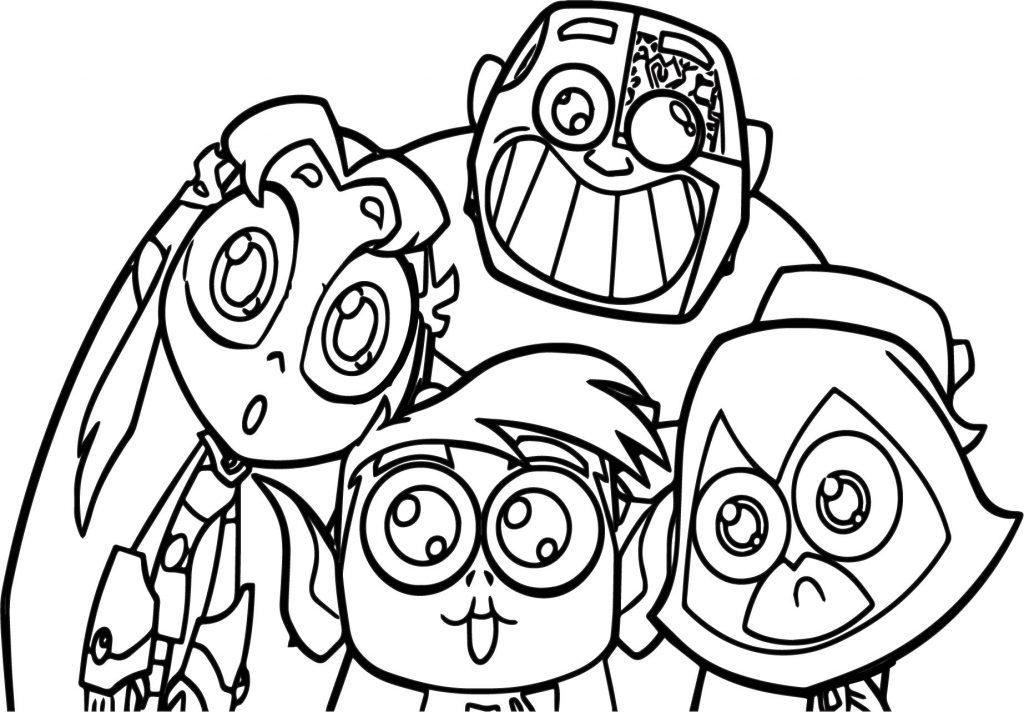 Coloriage Teen Titans Go