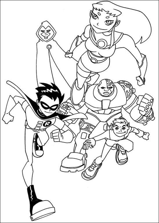 Coloriage Teen Titans à Imprimer