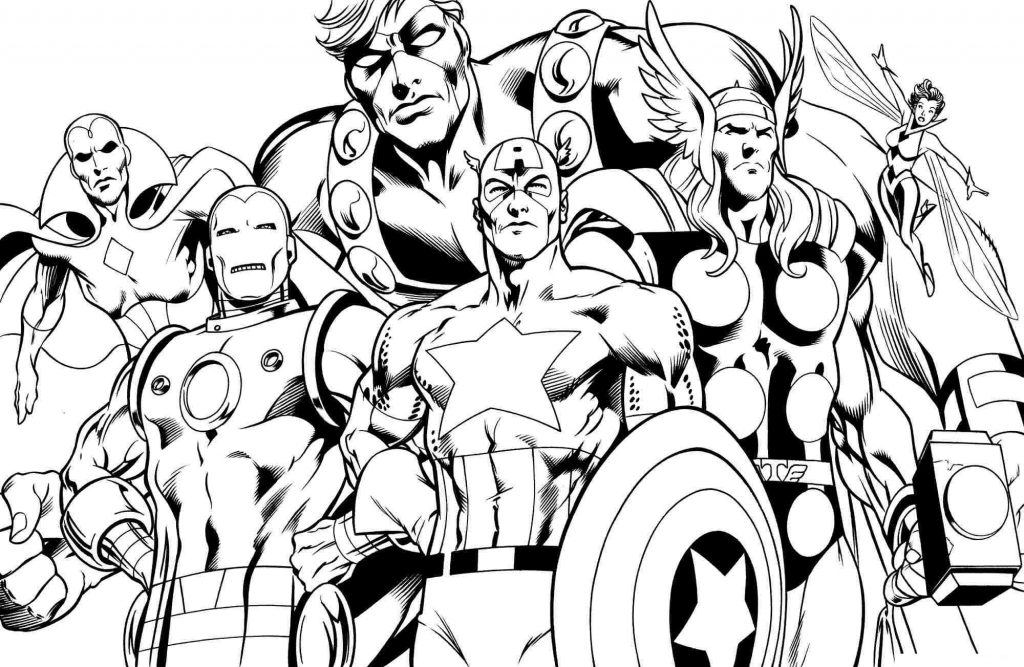 Coloriage Avengers