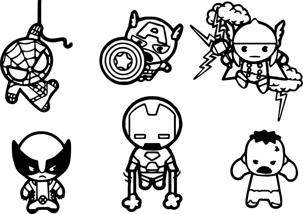 Coloriage Avengers Chibi