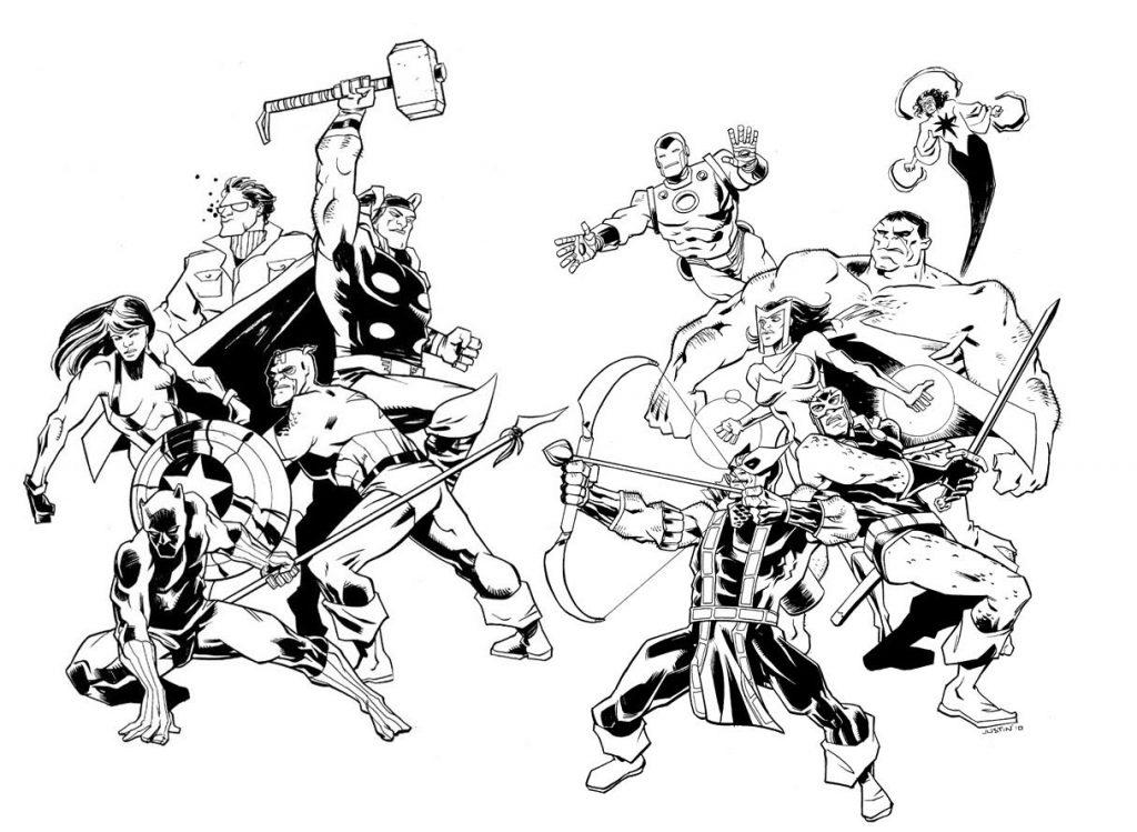 Coloriage Avengers à colorier