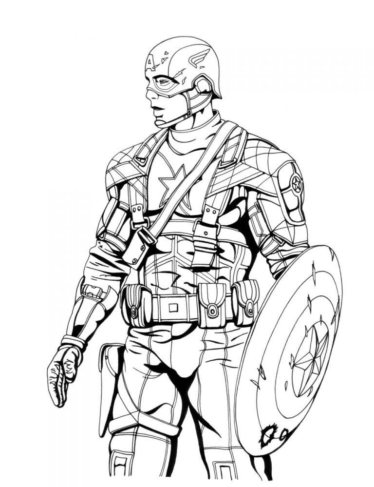 Coloriage de Captain America Avengers