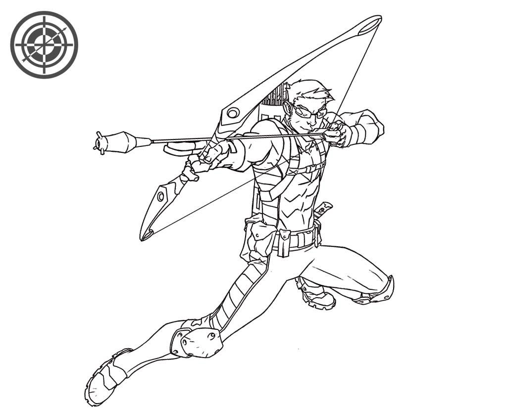 Coloriage Hawkeye Avengers